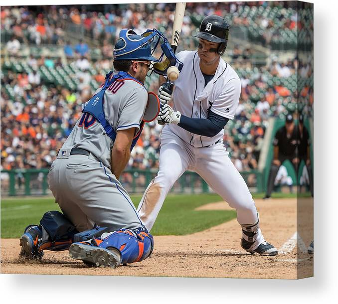 Baseball Catcher Canvas Print featuring the photograph Travis D'arnaud by Dave Reginek