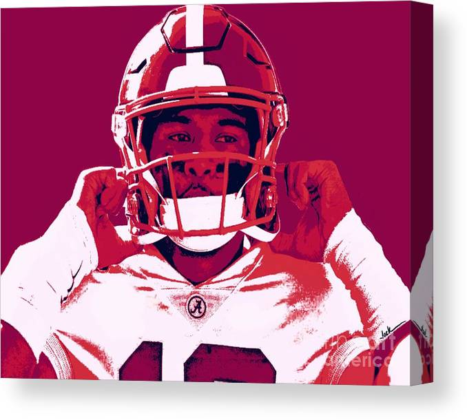 Tua Canvas Print featuring the painting Tua by Jack Bunds