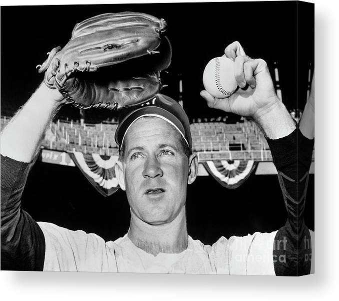American League Baseball Canvas Print featuring the photograph Whitey Ford by National Baseball Hall Of Fame Library