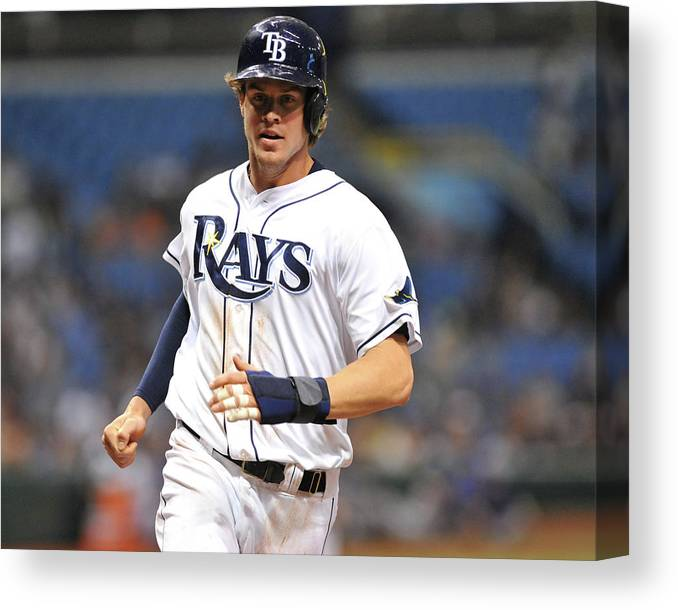 American League Baseball Canvas Print featuring the photograph Wil Myers by Al Messerschmidt