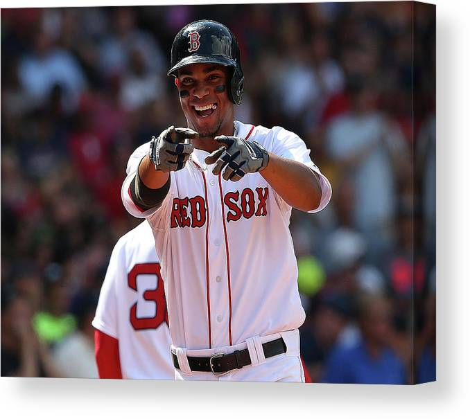 People Canvas Print featuring the photograph Xander Bogaerts by Jim Rogash