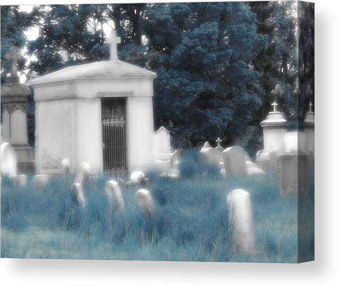 Beautiful Gothic Graveyard Giclee Canvas Picture Art Decoration