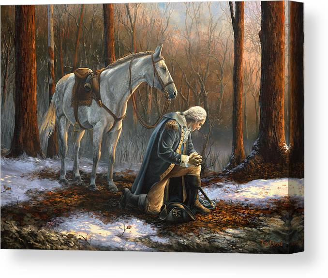 George Canvas Print featuring the painting A General Before His King by Tim Davis