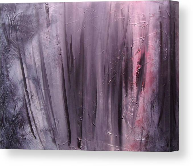 Abstract Canvas Print featuring the painting Behind shadows by Sergey Bezhinets