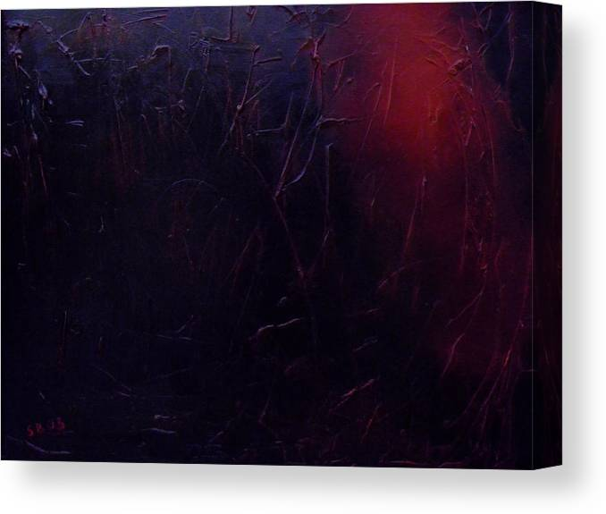 Abstract Canvas Print featuring the painting Chaos by Sergey Bezhinets