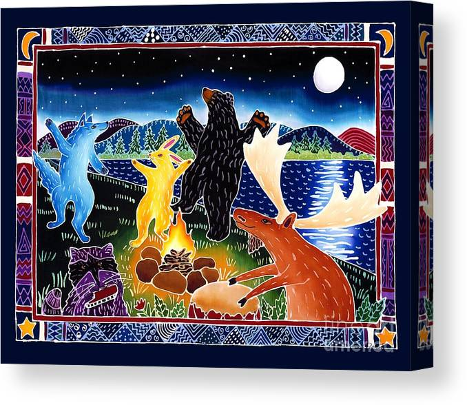 Playfyl Canvas Print featuring the painting Dancing in the Moonlight by Harriet Peck Taylor