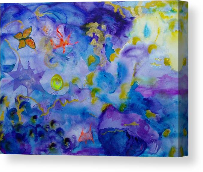 Watercolor Canvas Print featuring the painting Dreams by Phoenix Simpson