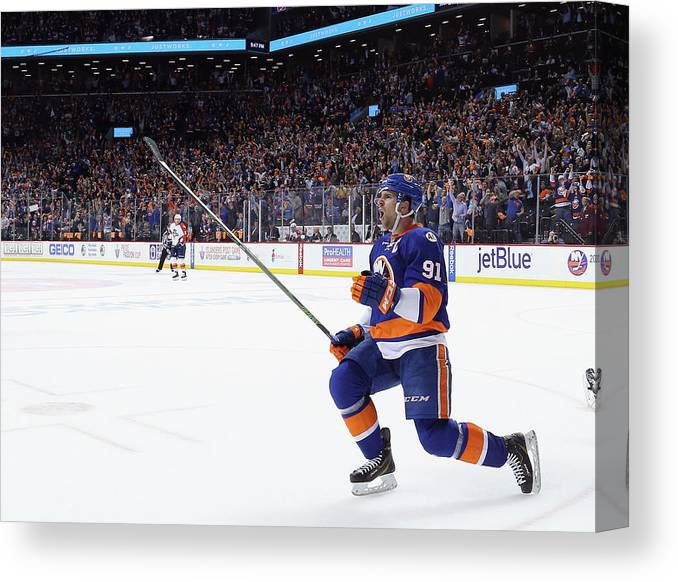 Playoffs Canvas Print featuring the photograph Florida Panthers V New York Islanders - by Bruce Bennett