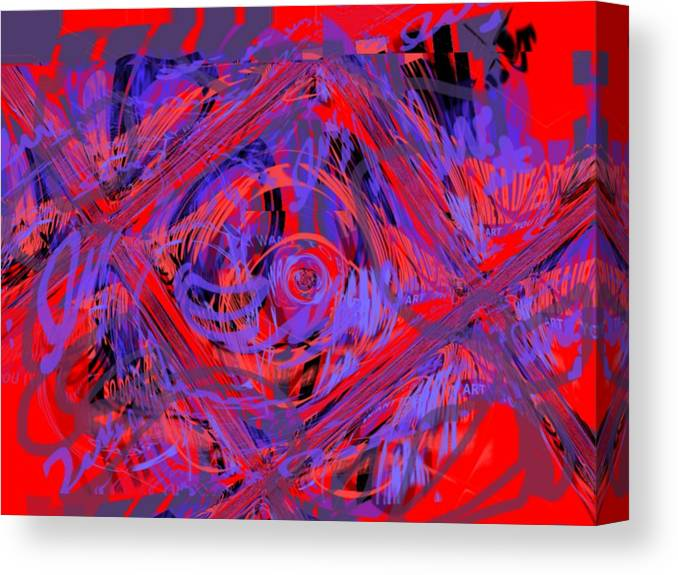 Graphic Art Canvas Print featuring the digital art Graphic Explosion by Pharris Art