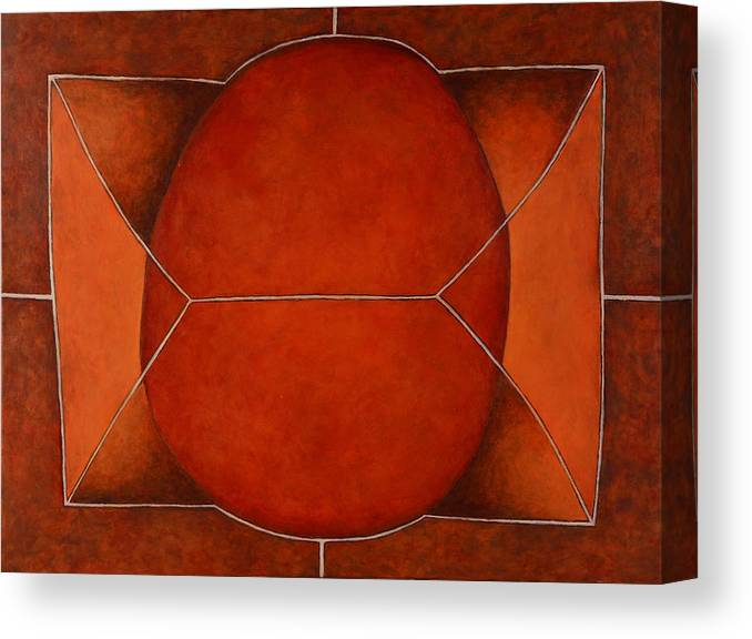 Abstract Art Canvas Print featuring the painting Held In 2 by David Douthat