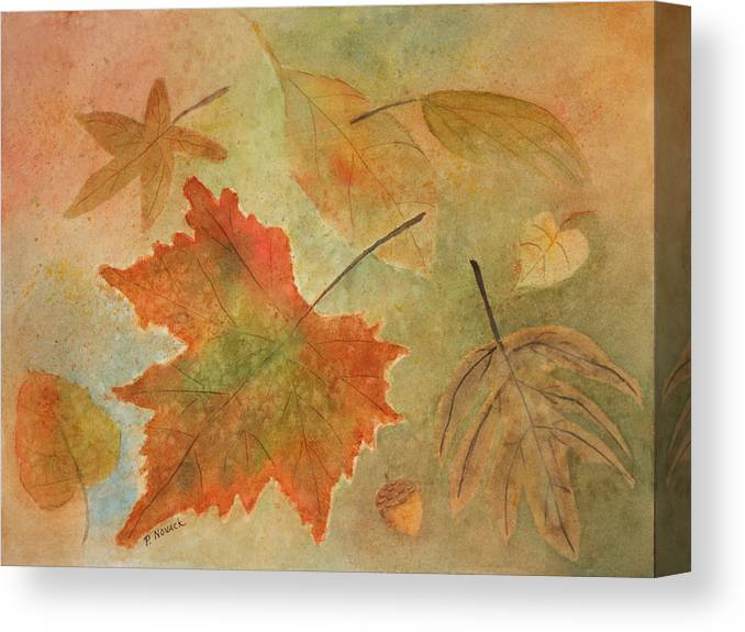 Leaves Canvas Print featuring the painting Leaves Vll by Patricia Novack