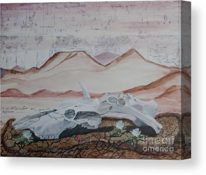 Arizona Canvas Print featuring the painting Life From Death In The Desert by Ian Donley
