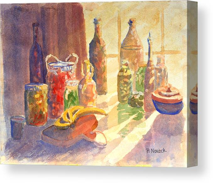 Window Canvas Print featuring the painting Light From The Window by Patricia Novack