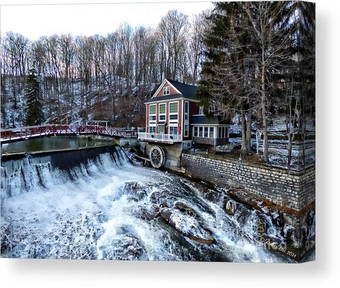 Landscape Canvas Print featuring the photograph Marcellus Falls llll by Rennae Christman