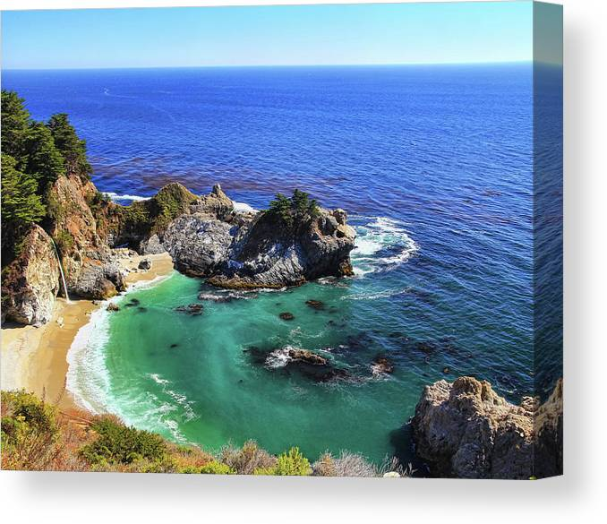 Scenics Canvas Print featuring the photograph Mcway Falls by David Toussaint