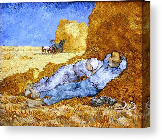 Vincent Van Gogh Rest Work After Millet 1890 Old Art Painting Canvas Art Print