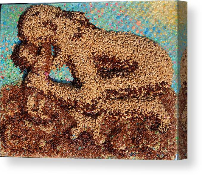 Mother And Child Canvas Print featuring the mixed media Mother Earth IV by Naomi Gerrard