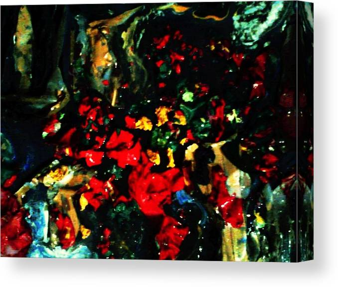 Abstract Canvas Print featuring the mixed media New York flush by Richard Hubal