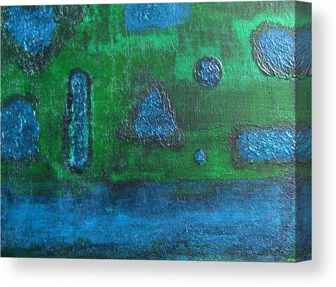 Abstract Canvas Print featuring the painting No. 404 by Vijayan Kannampilly