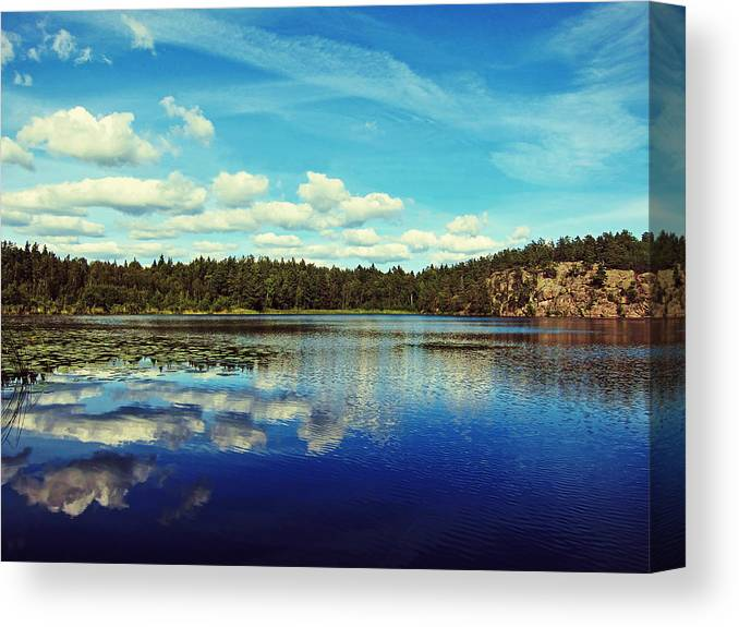 Lake Canvas Print featuring the photograph Reflections Of Nature by Nicklas Gustafsson