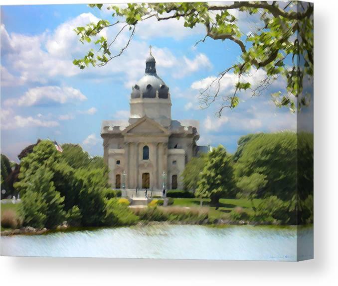 Landscape Canvas Print featuring the digital art Saint Catharines by Steve Karol