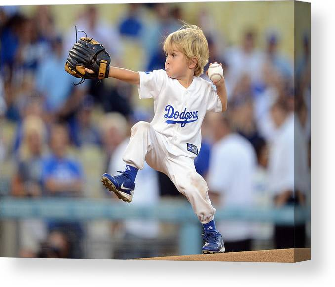 California Canvas Print featuring the photograph San Diego Padres v Los Angeles Dodgers by Harry How
