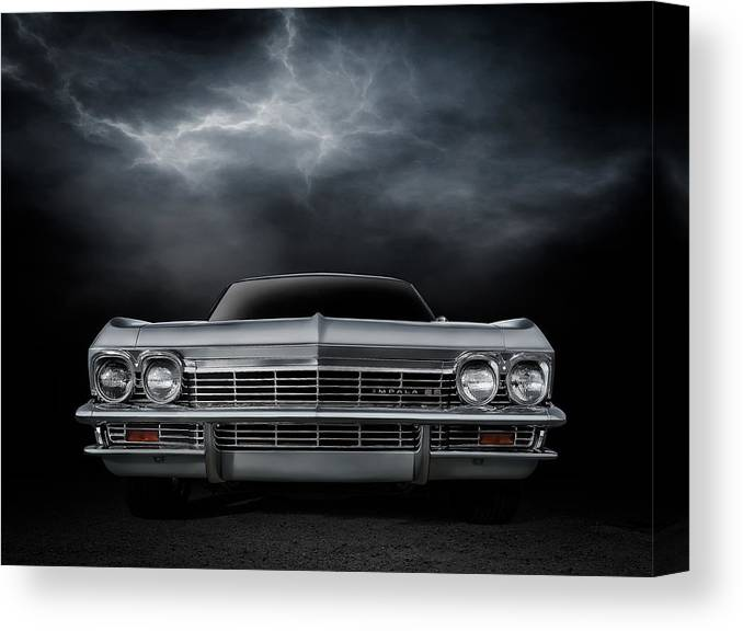 Car Canvas Print featuring the digital art Silver Sixty Five by Douglas Pittman