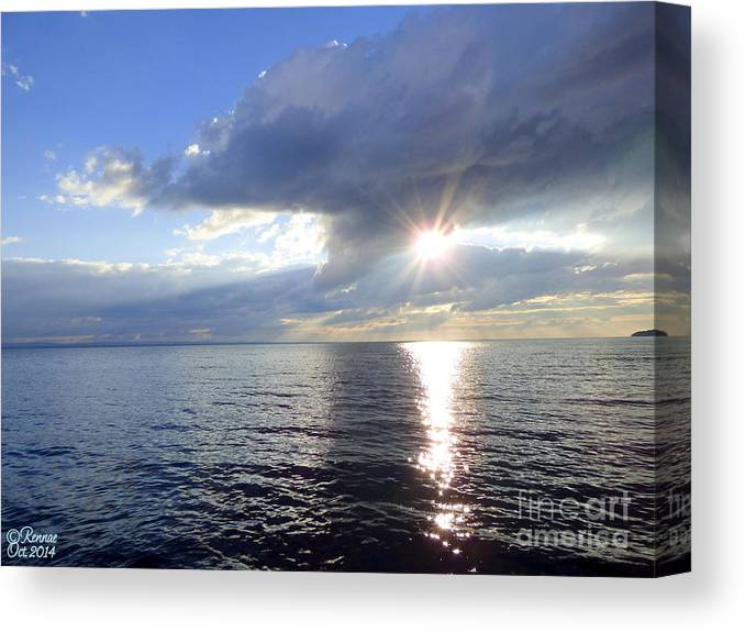 Lake Canvas Print featuring the photograph Sunlight Reflections by Rennae Christman