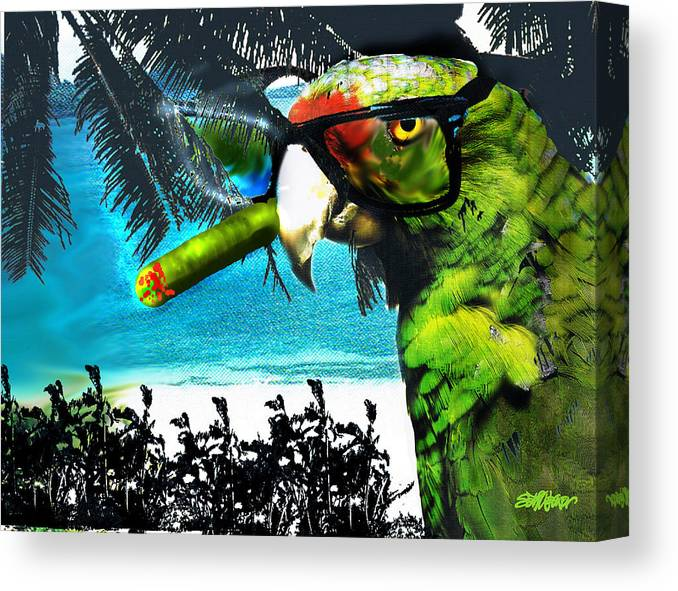 The Great Bird Of Casablanca Canvas Print featuring the digital art The Great Bird Of Casablanca by Seth Weaver