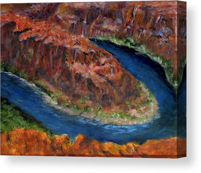 Landscape Canvas Print featuring the painting The Horseshoe by Thomas Restifo