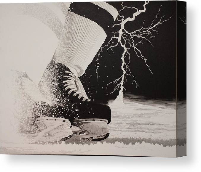 Painting Canvas Print featuring the painting Waiting on the thunder by Scott Robinson