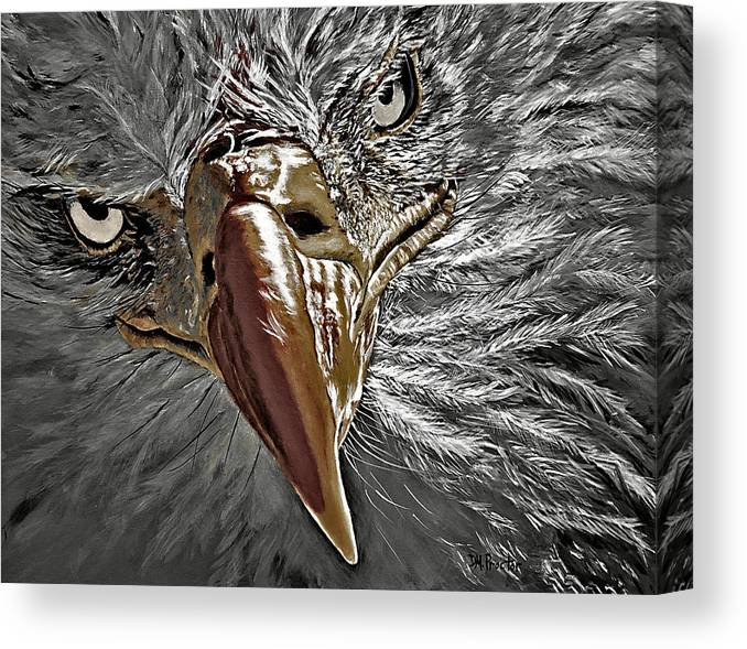 Eagle Canvas Print featuring the painting War Eagle by Donna Proctor