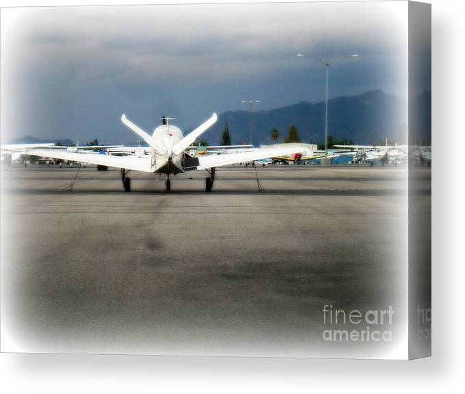Aviation Canvas Print featuring the photograph What fly girl is dreaming about by De La Rosa Concert Photography