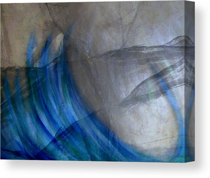 Abstract Canvas Print featuring the digital art Aqua by Joseph Ferguson