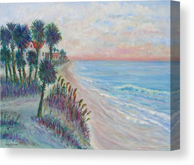 Seascape Canvas Print featuring the painting Isle of Palms by Ben Kiger
