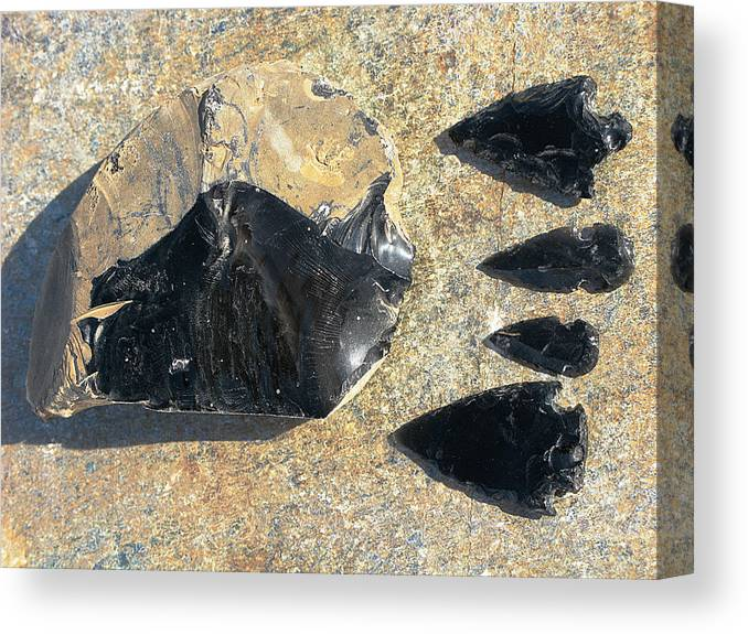Obsidian Canvas Print featuring the photograph Obsidian by Andonis Katanos