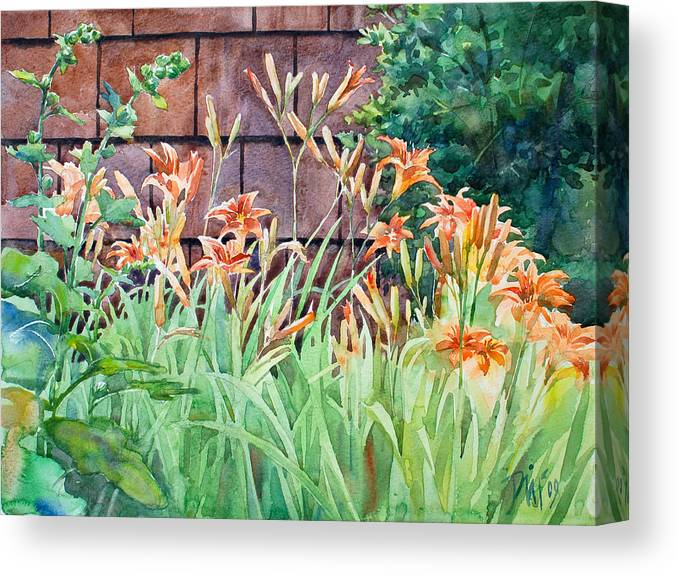 Canvas Print featuring the painting Oxenden Lilies by Peter Sit