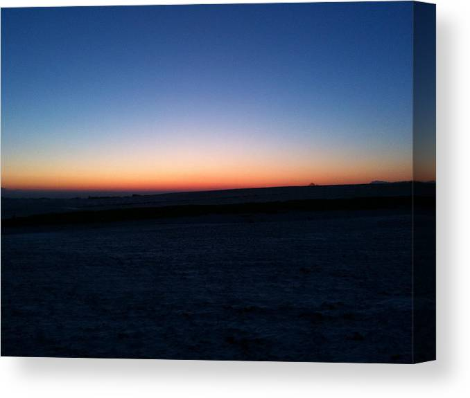 Sunset Canvas Print featuring the photograph Sunset by Christopher Mercer