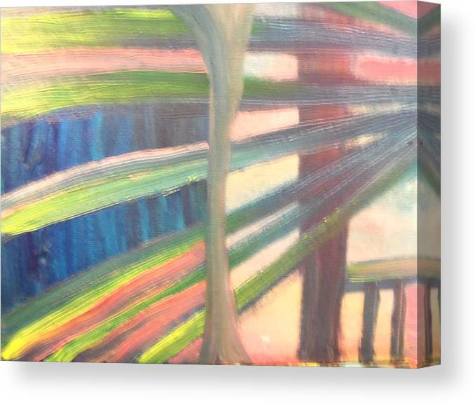 Canvas Print featuring the painting The Fence by Hollie Leffel