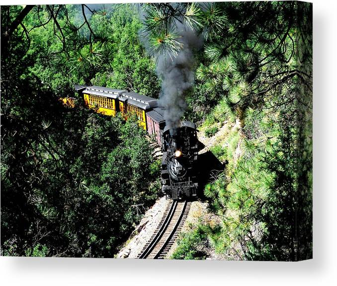 Train Canvas Print featuring the photograph Nostalgic Moments by Carol Milisen