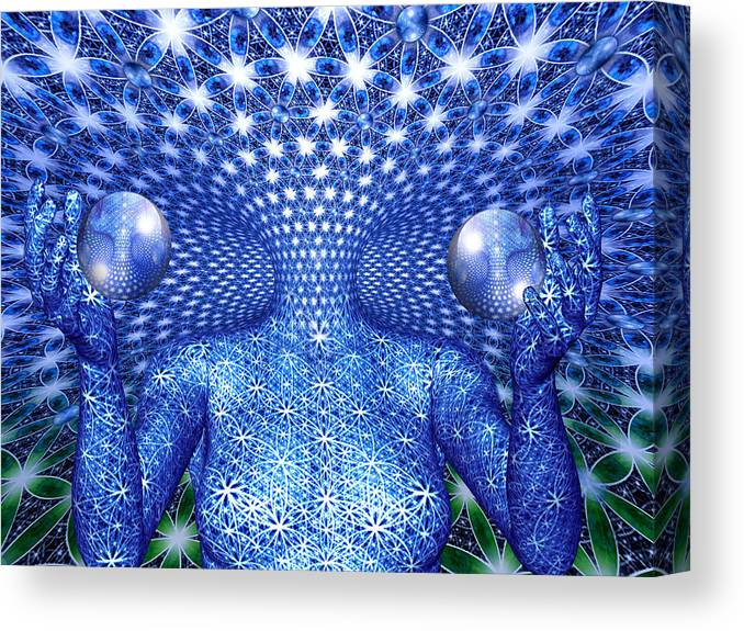 Duality Canvas Print featuring the painting The Invention of Duality by Robby Donaghey