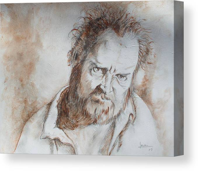 Portrait Canvas Print featuring the drawing Untitled 1 by Victor Amor