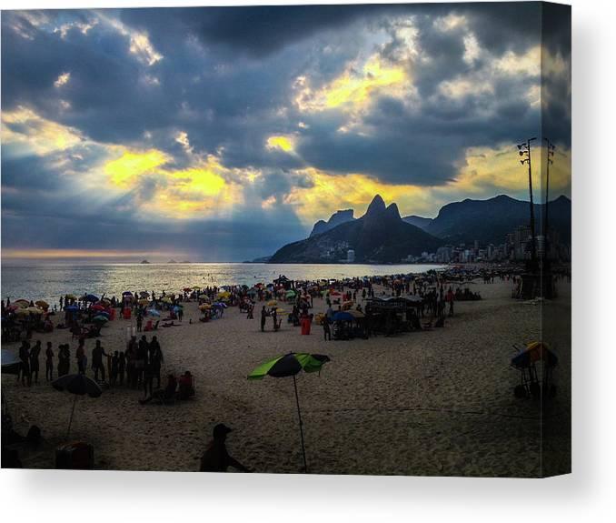 Ipanema Canvas Print featuring the photograph Ipanema Beach by Cesar Vieira