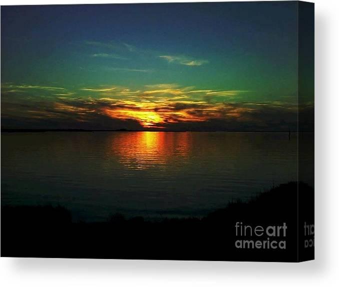 Sunset Canvas Print featuring the digital art Sunset by Dawn Johansen