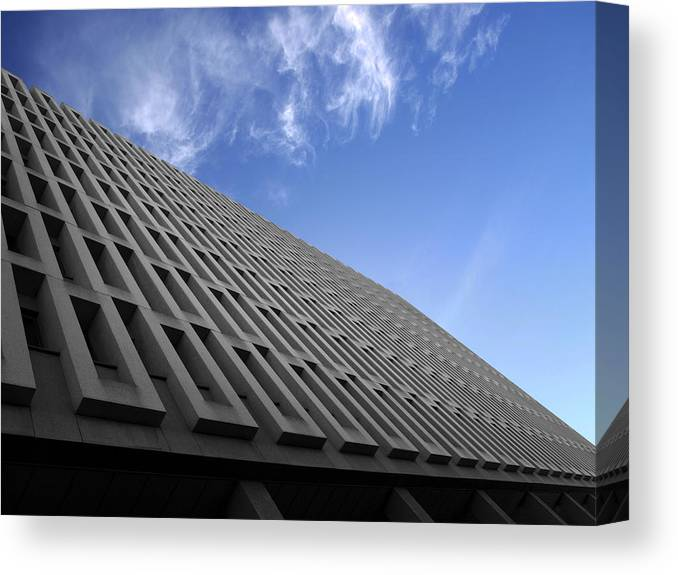 Building Canvas Print featuring the photograph ABC by Kelly King