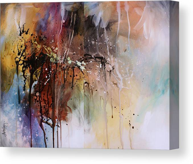 Abstract Canvas Print featuring the painting Abstract Design 80 by Michael Lang