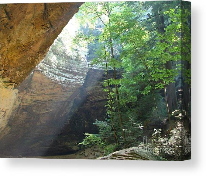 Photograph Canvas Print featuring the photograph Ash Cave by Mindy Newman
