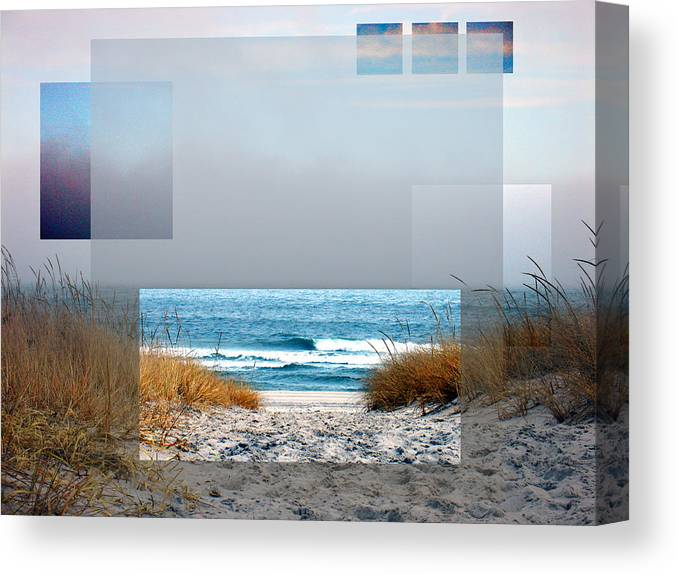 Beach Canvas Print featuring the photograph Beach Collage by Steve Karol