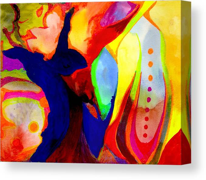 Watercolor Canvas Print featuring the painting Cancun 14 by Peter Shor