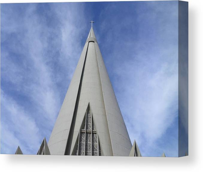 Cathedral Canvas Print featuring the photograph Cathedral Minor Basilica Our Lady of Glory by Bruna Lima